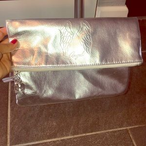 Victoria's Secret Silver Angel With Wings Clutch